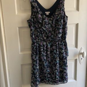 Blue and purple floral dress. Only worn once.